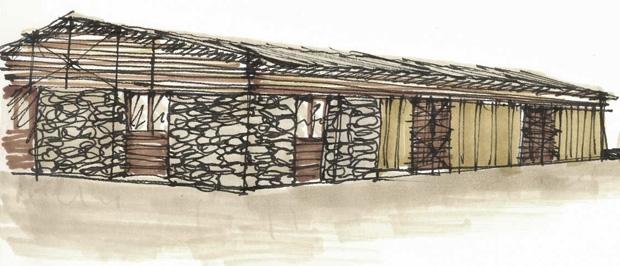 Bergerie en pierre et bois en auto construction for Pierre et bois construction